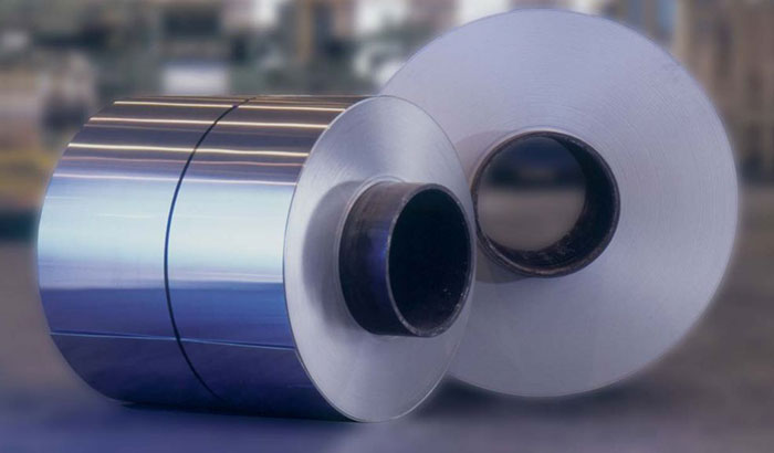 Fluorocarbon coated aluminum coil