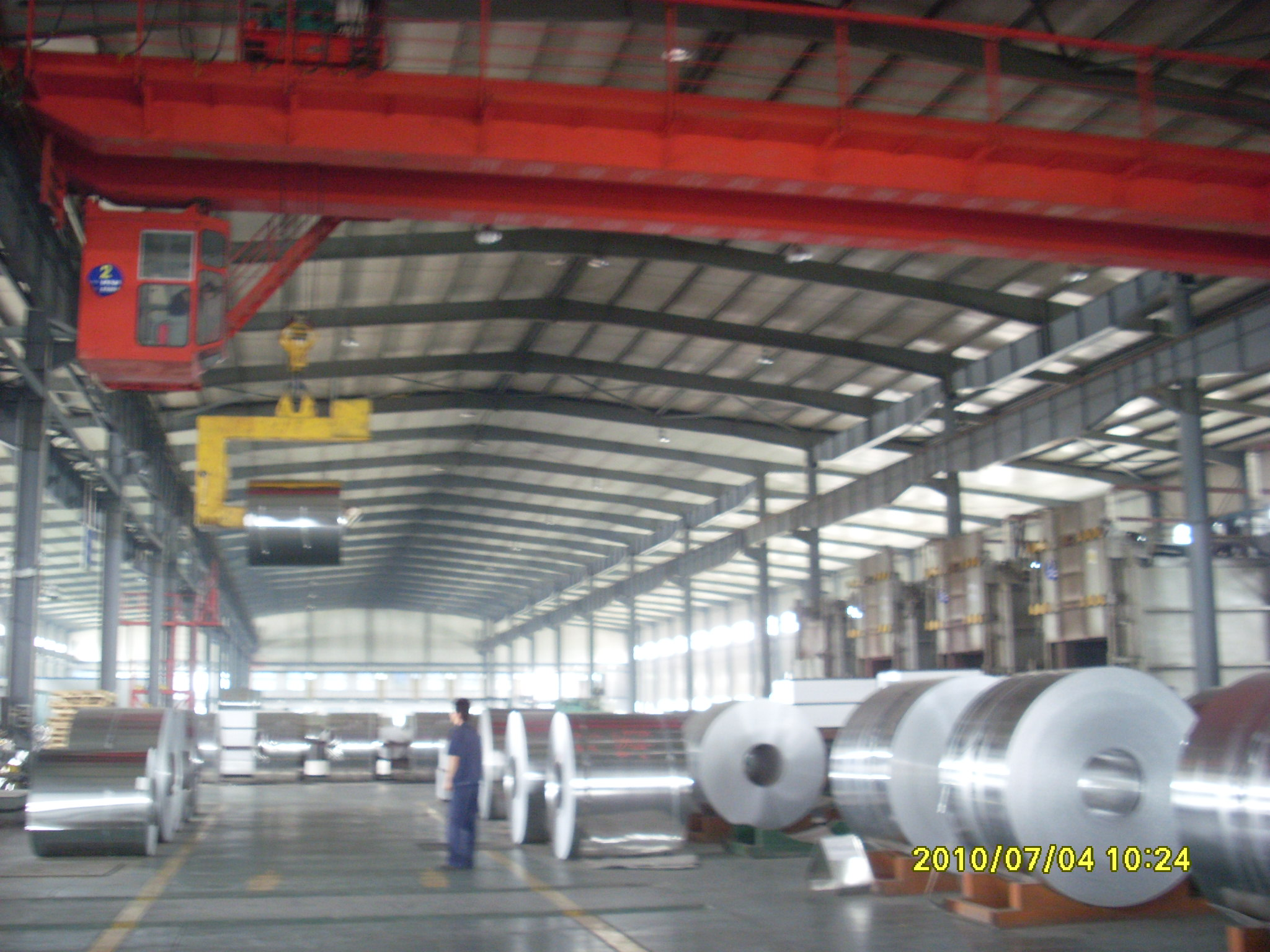 Anti-rust and hot rolling aluminum coil